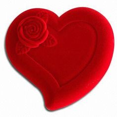 Heart-shaped Gift Box for Jewelry, Accepts Customized Logos, Made of Paper and Cardboard