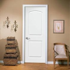 Roman Smooth 2 Panel Round Top Hollow Core Primed Composite Interior Door  Slab 11093 At The Home Depot   Mobile