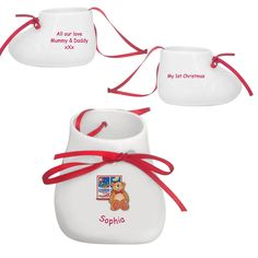 I Just Love It Teddy Window Bootie Tree Decoration Teddy Window Bootie Tree Decoration - Gift Details. A gorgeous gift idea that can be hung proudly on any tree. Give something extra special this festive season with this lovely Christmas bootie. Best  http://www.MightGet.com/january-2017-11/i-just-love-it-teddy-window-bootie-tree-decoration.asp