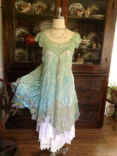 Luv Lucy crochet dress Lucy's Sea Glass by TheVintageRaven, $210.00