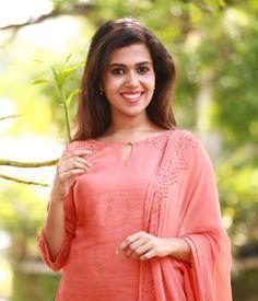 Peach Linen Suit With Gold Sequins Salwar Suit Neck Designs, Kurta Neck Design, Salwar Designs, Kurta Designs Women, Kurti Designs Party Wear, Chudidhar Neck Designs, Churidhar Designs, Neck Designs For Suits, Dress Neck Designs