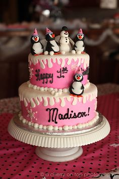 Winter ONE-derland penguin birthday party