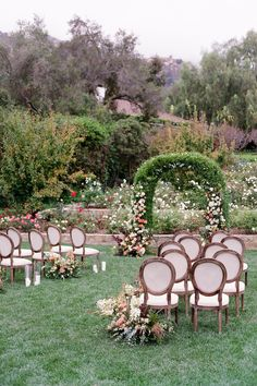 Lush garden wedding ceremony. Photo: Lacie Hansen Lush Garden, Outdoor Furniture Sets, Outdoor Decor, California Wedding, Garden Wedding, Wedding Ceremony, Celebrities, Fall, Autumn