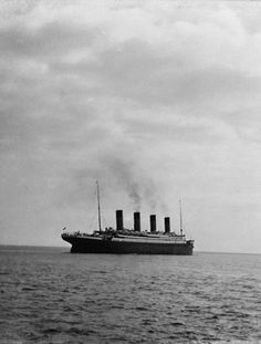 One of the last-known photographs taken of the RMS Titanic, 1912.
