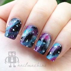 Galaxy nails <3 soooooooo cool