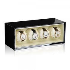 Watchwinder voor 4 horloges werkt op batterijen of via adapter http://www.modalo.be/watch-winder-4/289-watchwinder-horlogewinder-horlogeopwinder-554011-voor-breitling-cartier-hublot-iwc-omega-rolex-zenith-enz.html
