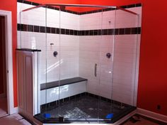 Heavy glass shower doors beautifully crafted and installed in large custom glass doors kansas city heavy series glass shower doors planetlyrics Gallery