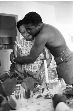 Muhammad Ali w/ his mother Odessa Grady Clay.
