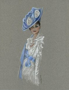 Audrey Hepburn My Fair Lady | #illustration by Soo Kim