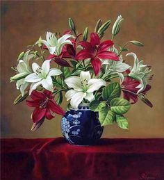 [Visit to Buy] lily flowers DIY oil painting by numbers Hand Painted Framed Acrylic Picture coloring by numbers on canvas Plant Painting, Diy Painting, Painting Flowers, Flower Paintings, Art Floral, Art Mur, Still Life Flowers, Still Life Art, Botanical Art