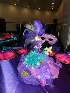 Quinceanera Themes Masquerade Centerpieces