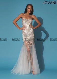Vestido de Festa Longo com Bordados e Transparência Presta 79213 : Dstore Miami, Vestidos de Festa Importados
