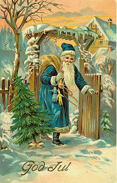 Vintage Santa/Christmas Postcard by Suzee Que, via Flickr