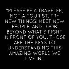 Traveler vs. Tourist
