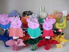 Centros de mesa Peppa Pig