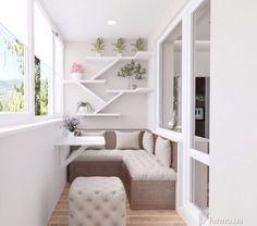 51 Small Balcony Decor Ideas - The Architects Diary - Garten, Balkon & Fensterbank Window Seat Design, House Design, House Interior, Small Spaces, Home, Home Deco, Apartment Balcony Decorating, Home Decor, Room Interior