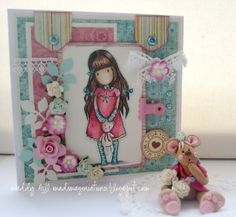 4/3/2012; Gorgette at 'mad imaginations' blog;  Gorjuss Cards and fimo Teddy set.