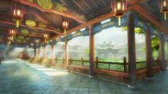 Asian fantasy art, digital illustrations and character studies. Amazing matte paintings 蘑菇版手绘古风场景 (太液芙蓉未央柳)