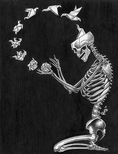 Nothing on my mind Memento Mori, Skeletons, Skulls, Crane, Skeleton Art, Anatomy Art, Skull And Bones, Skull Art, Illustration Art