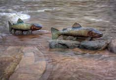 """""""Return of the Cutthroat"""" by Pat Madison.  Photo by Andrew Terrill."""