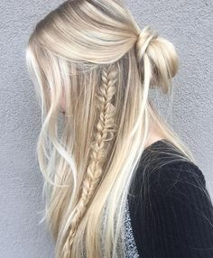 New Half Up Long Braided Hairstyles for Prom