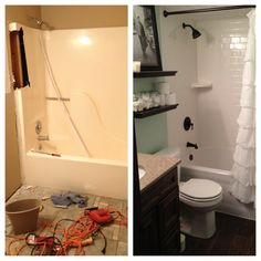 small bathroom remodels before and after 10 - pictures, photos, images