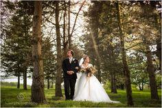 Bride and Groom portrait at a Springton Manor Farm Wedding