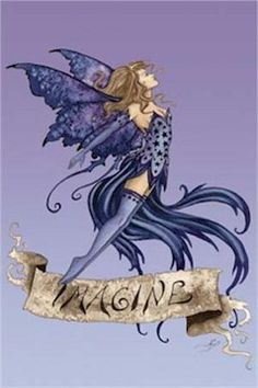 Art poster ~ fairies imagine fairy faery amy brown