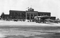 St. Louis Lambert Airport passenger terminal shortly after its opening in June 1933...