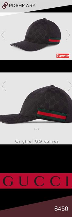 c2ba6bd04 Gucci hat NWNT (never worn) Original GG Gucci hat Size: s/m (adjustable  leather strap back) Men's or Women's Gucci Accessories Hats