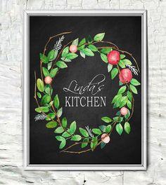 Personalized Kitchen Decor Print by lindakdesign on Etsy