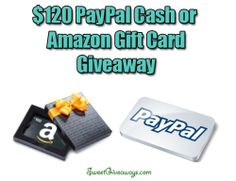 $120 Cash Giveaway