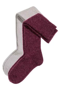 2-pack mohair-blend knee socks | H&M