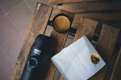 Minipresso hand powered portable espresso maker makes cafe quality espresso wherever you go! Photo by: Brodie Vissers #coffee #coffeeonthego #minipresso #giftideasforcoffeelovers #giftideasfordads #giftideasforoutdoorlovers #espressomachine #portableespressomachine