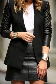 Jupe en simili cuir - s'habiller bien