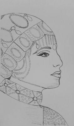My drawing of Barbara Striesand by me (Jade Hurdle)