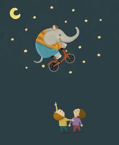 elefante en bicicleta Albert Pinilla