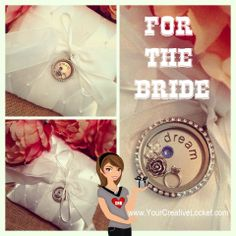 South Hill Designs Locket for the Bride.  Pick charms that tell your story! Canadian and US orders accepted!   #yourcreativelocket  #wedding #jewelry #bride #southhilldesigns