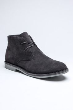 #MensShoes:Charcoal desert boot