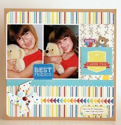 Best Friends by designer Linda Auclair using Toy Box Mini Collection.