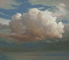 Cloud Painting -  Cloud Study 8 - Tonal study of single cloud ~ Ken Bushe