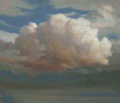 Cloud Painting -  Cloud Study 8 - Tonal study of single cloud ~ Ken Bushe