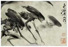How to Carve Roast Unicorn: ALIENS SUMI-E INK WASH