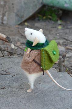 Autumn Little Backpackers -  needle felted ornament animal, felting dreams. $68.00, via Etsy.