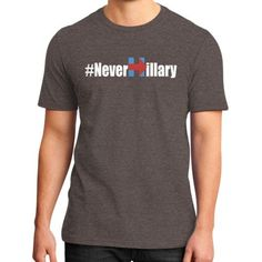 Never Hillary District T-Shirt (on man)