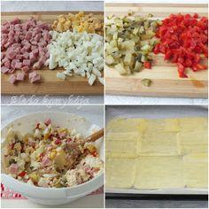 Aleda konyhája: Színes sajtos tekercs