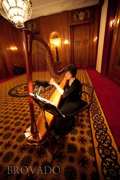 Harp player at a wedding... awesome touch! | Brovado Weddings