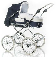 Our manufactory fabricates handmade individual retro combination prams. Suspension and handling characteristics in the highest quality - made in Germany. Bugaboo, Vintage Pram, Baby Prams, Stylish Baby, Baby Gear, Baby Strollers, Baby Boy, Children, Dolls