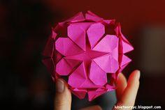 Kula origami - serce   #lubietworzyc #DIY #handmade #howto  #instruction #instrukcja #jakzrobic #krokpokroku #dekoracje #decorations #origamiheart #origami #heart #origamiball #serce #kulaorigami #serceorigami #kulaserce #walentynki #valentine'sday