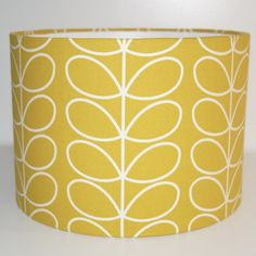 Details about Orla Kiely Yellow Gold Linear Stem Fabric Drum Lampshade 20 25 30 35 Orla Kiely Bedroom, Orla Kiely Fabric, Brick Wall Bedroom, Orla Keily, Wallpaper Stairs, Gold Fabric, Ceiling Pendant, Fabric Shades, Main Colors
